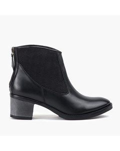 Ladies Black Elastic Panel Ankle Boot