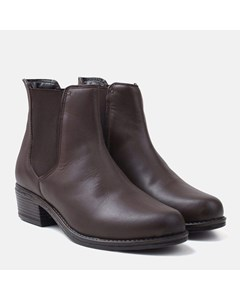 Ladies Brown Plain Chelsea Boot