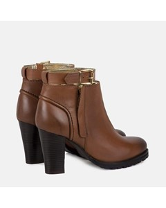 Ladies Tan Ankle Strap Boot