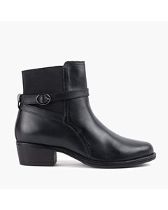 Ladies Black Strap Ankle Boot