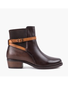 Ladies Brown Strap Ankle Boot