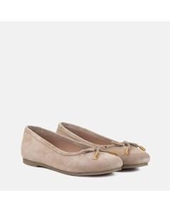Ladies Mink Suede Ballet