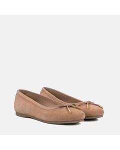 Ladies Nude Suede Ballet