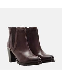 Ladies Brown Scoop Gusset Ankle Boot