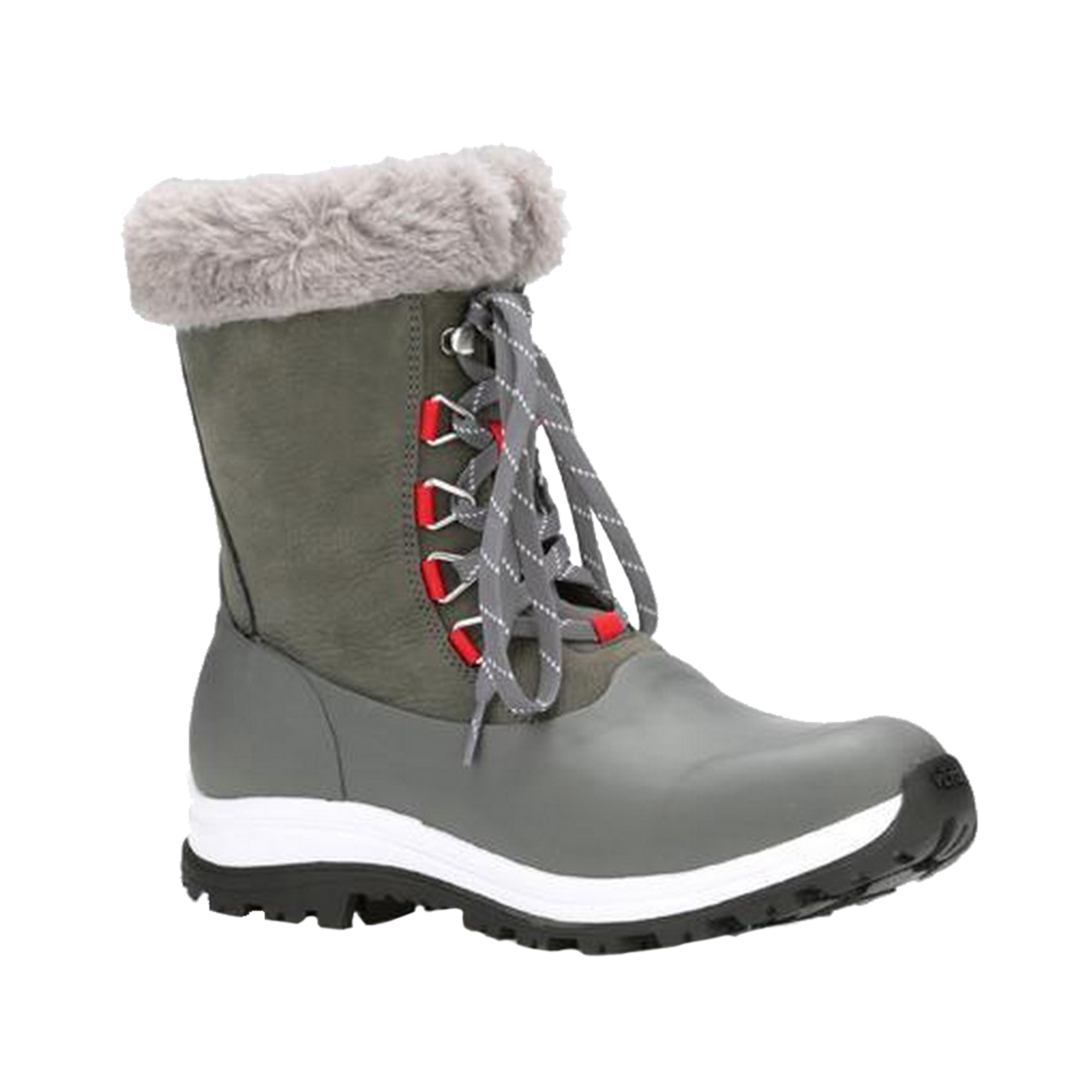 Muck Boots Womensladies Apres Leather Lace Up Mid Boot