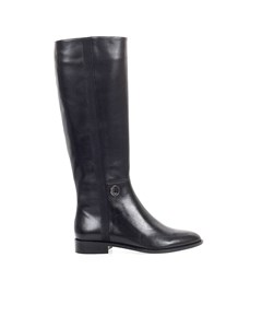 Emporio Armani Black Leather High Boot