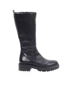 Zoe Black Leather High Boot
