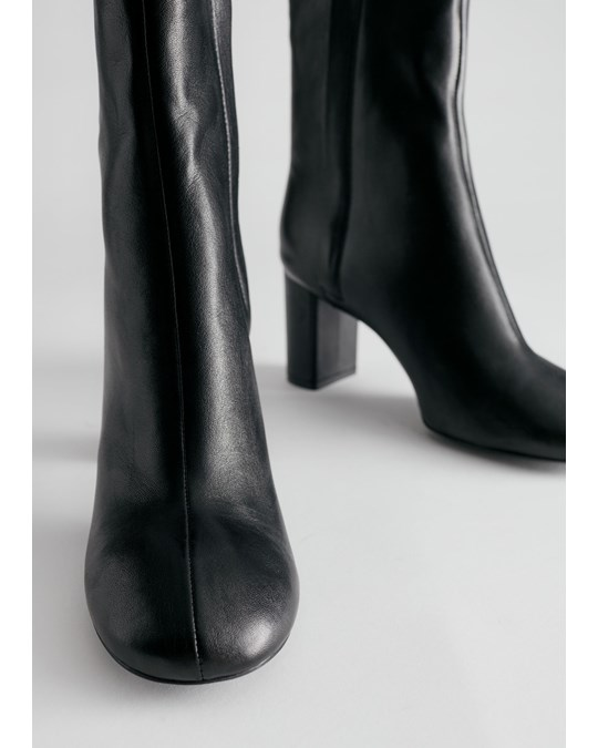 & Other Stories Boot Black