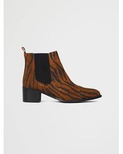 Biacarol Print Leather Chelsea  Tiger