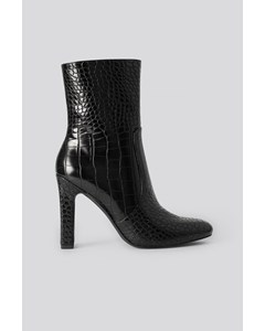 Glossy Reptile Booties Black