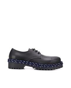 Balenciaga Leather Derby Shoes Black