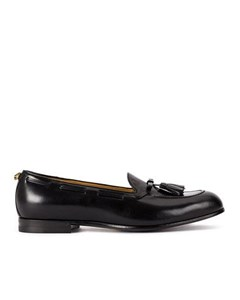 Gucci Leather Tassel Loafers Black
