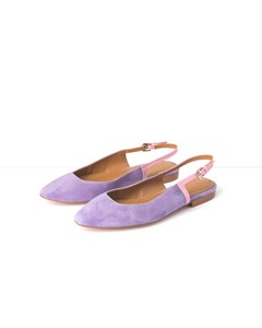 Agnes Pink Nappa / Purple Suede Sling-back