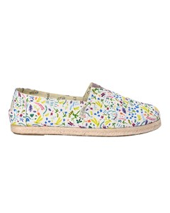 Canvas Espadrilles With Rope Detail Classic Print Flowers White/multicolor