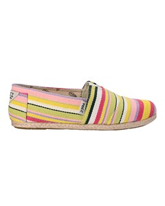 Striped Espadrilles With Rope Details Classic Yellow Stripes Multicolor 035
