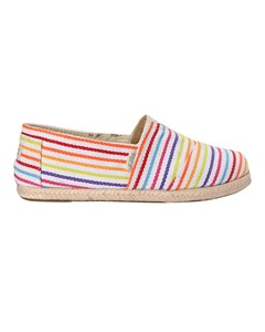 Canvas Espadrilles With Rope Detail Classic Raw Stripes Whiwhite