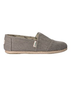 Canvas Espadrilles With Rope Detail Classic Essential Grey 034