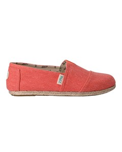 Canvas Espadrilles With Rope Detail Classic Essential Coral Coral 034