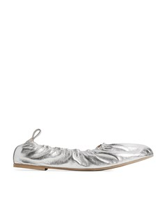 Soft Leather Ballerinas Silver