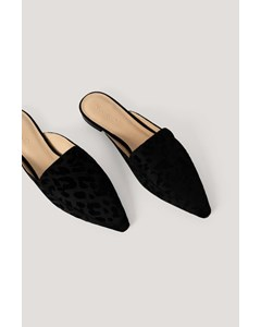 Fake Fur Slippers Black