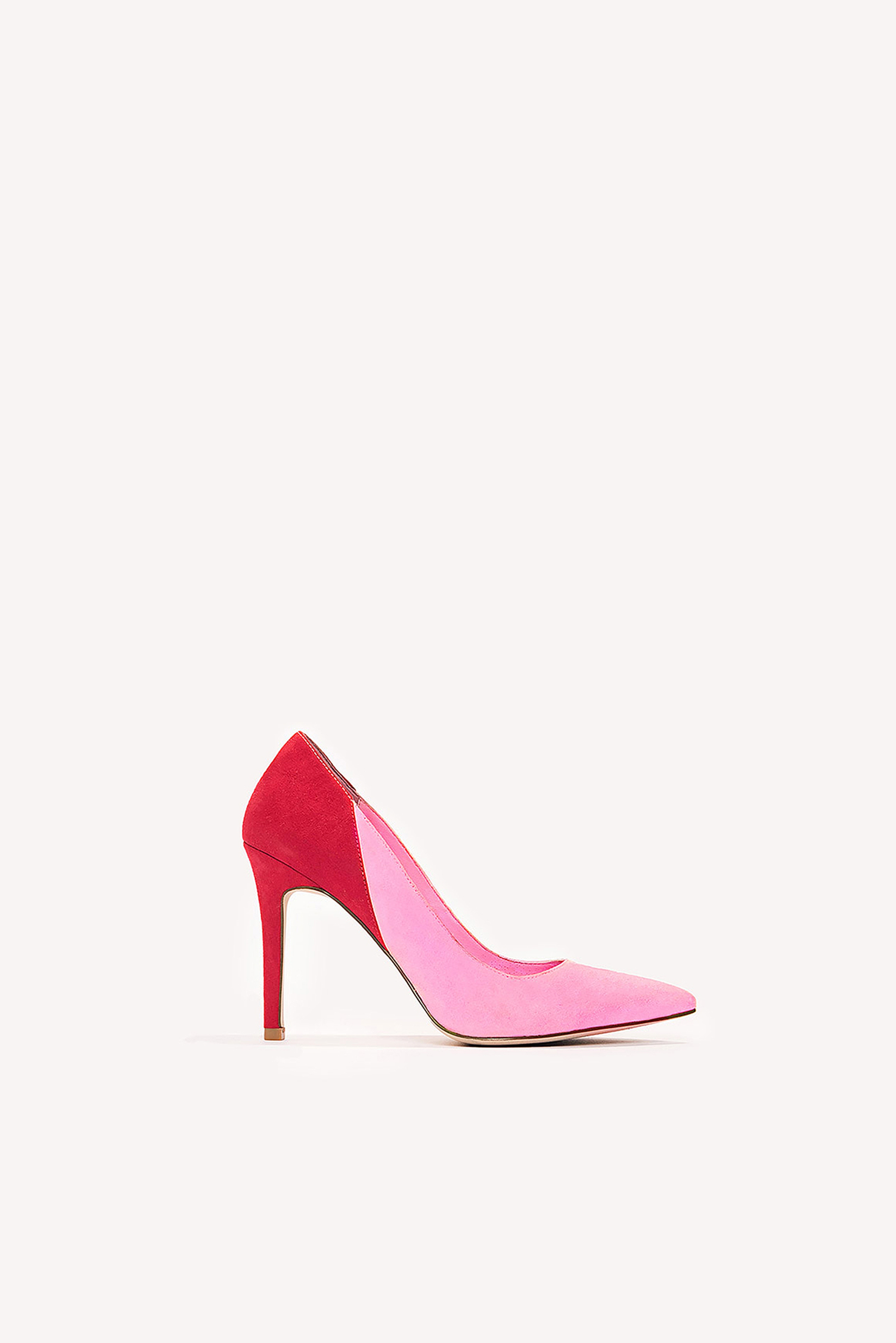 6243f46633 Block Color Mid Heel Pump Pink | Shoppa Online | Afound