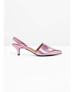 Kätzchen-Ferse pumps rosa