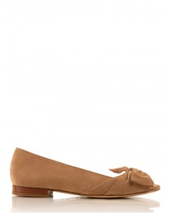Flat Suede Leather Ballerinas La Papillote