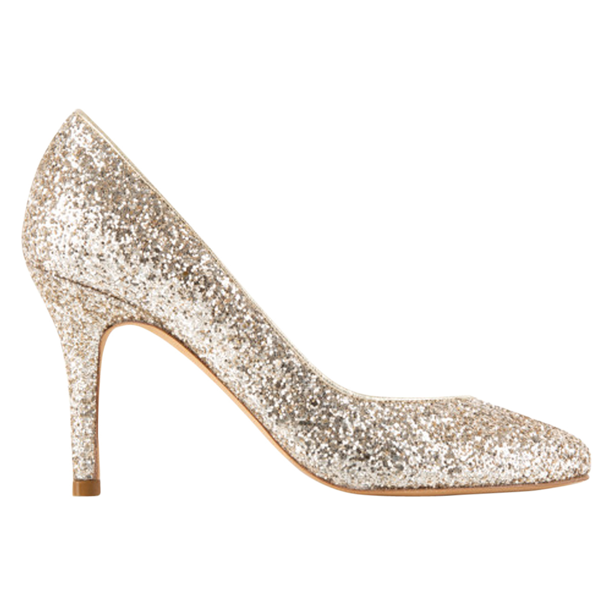 Sequinned Leather Court Shoes L Dazzling L L'é