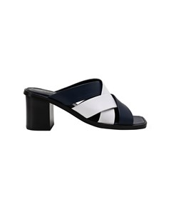 Leather Mules With Crossed Straps Patty Patty