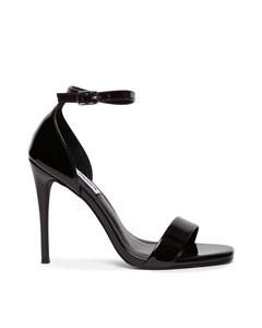 Reeves Sandal Black Patent