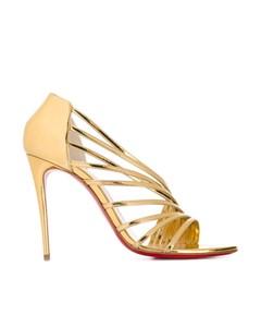 Christian Louboutin Norina 100 Sandals Gold