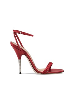 Gucci Braided Leather Sandals Red