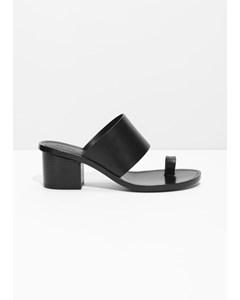 Sandal med tåögla svart