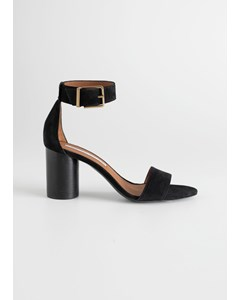 Vira sandal med klack och spänne svart