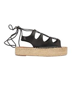 Alohas - Sandals Espadrilles Gladiator - Black