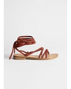 P Puget orange sandal