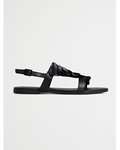 Biabitt Leather Frill Sandal  Black