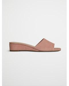 Biacaro Suede Wedge Sandal  Light Pink 1