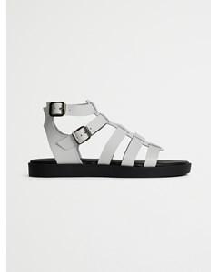 Biacailin Leather Sandal  White