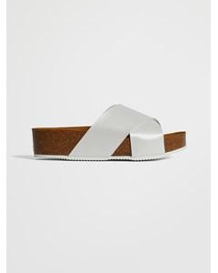 Sanabria Sandal White Pearl