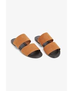 Slip-on Sandals Camel Brown