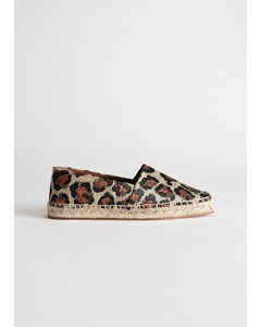 Square Toe Leopard Espadrilles Leopard