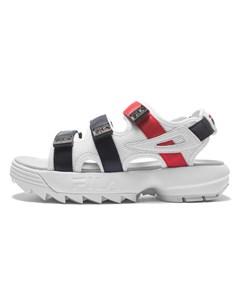 Disruptor Sandal Wmn White / Fila Navy / Fila Red