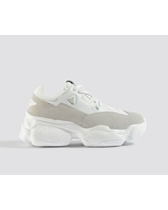 Chunky Graphic Sole Trainers White