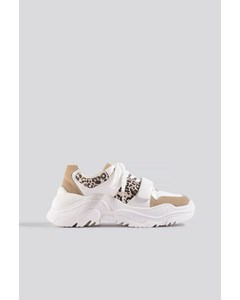 Chunky Burdock Detailed Sneakers White-beige