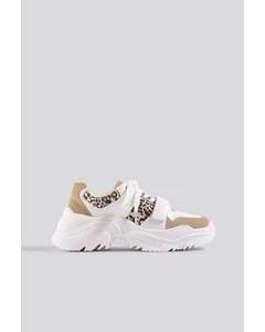 Chunky Burdock Detailed Sneakers White-beige