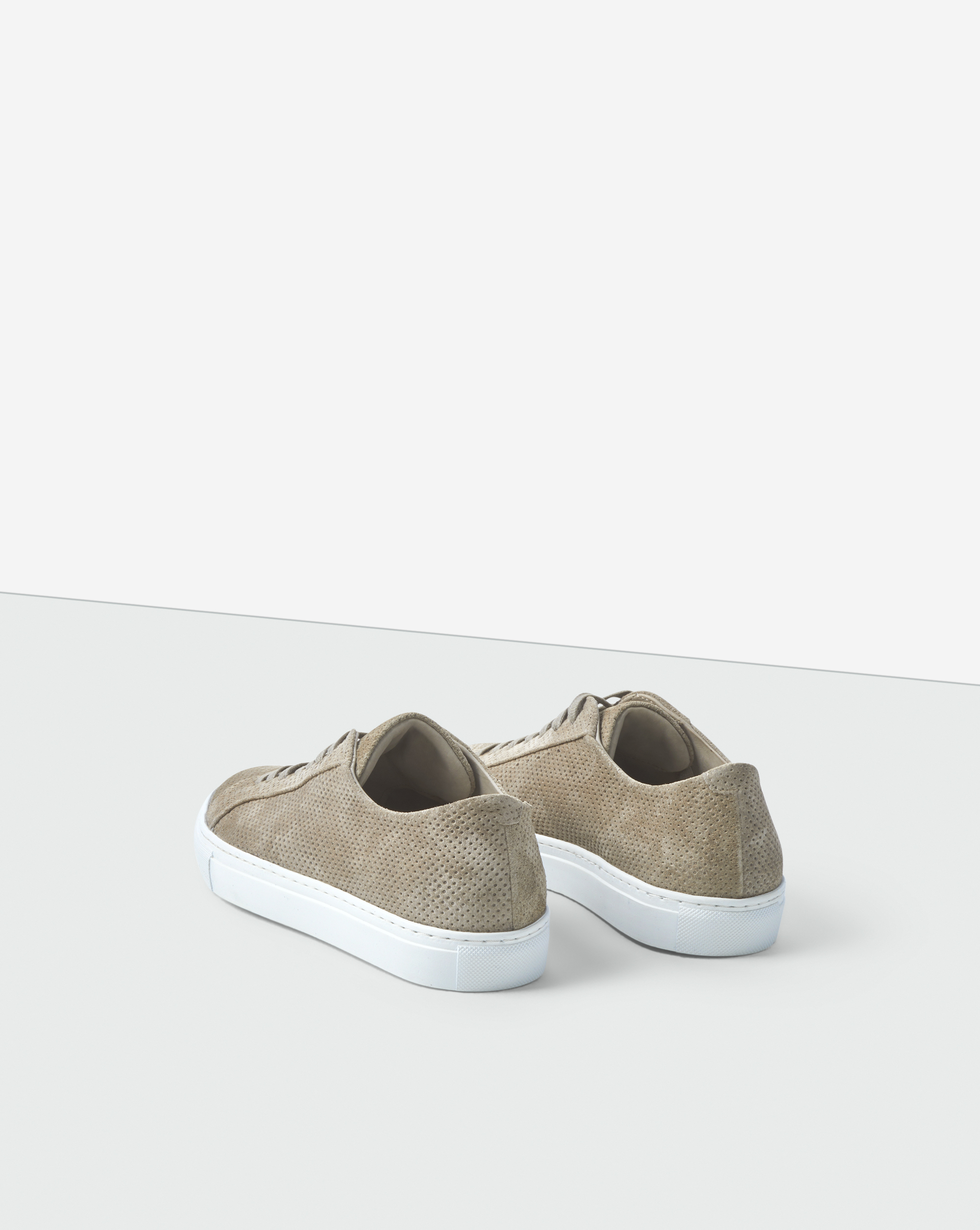 Kate Suede Sneaker Perforated Dk Stone