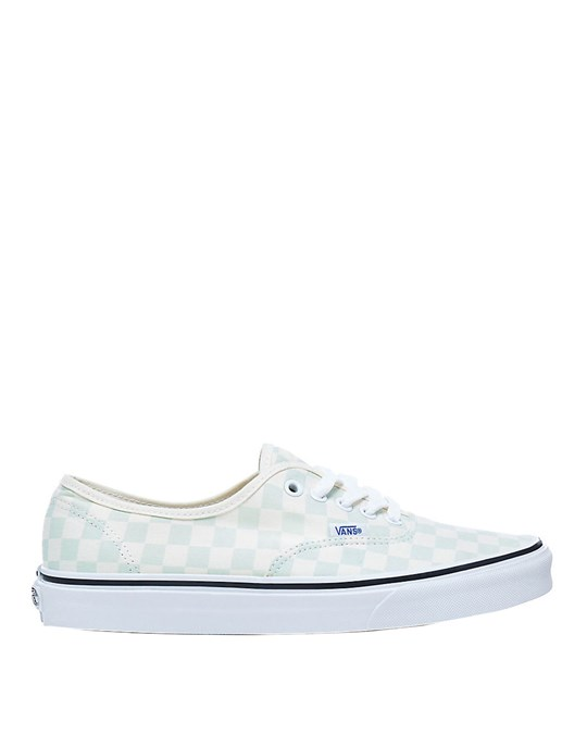Vans Vans Unisex Checkerboard Authentic Sneakers Light Blue