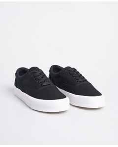 Classic Lace Up Trainer Black