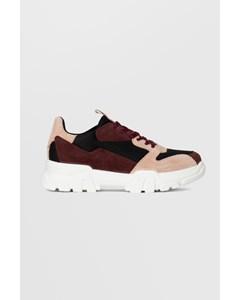 Biacanary Suede Sneaker  Burgundy
